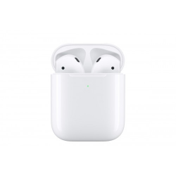 Apple Bluetooth Wireless AirPods (2019) w/Mic and Wireless Charging Case