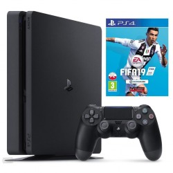 Sony Playstation 4 Slim 500GB Black Console with FIFA 19
