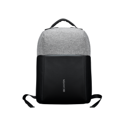 Canyon Anti-theft backpack for 15.6″-17″ laptop - Black/Dark Gray