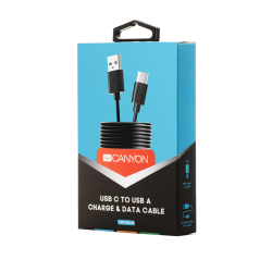 Canyon Charging & Data Transfering Cable USB Type C - USB 2.0 UC-1 - Black