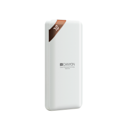 Canyon Compact power bank with digital display 10000 mAh PB-102 - White
