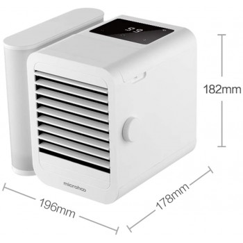 Xiaomi microhoo Personal Air Conditioner Mini Air Cooler Evaporative Humidifier Purifier 99-Speeds Desktop Portable Electric fan