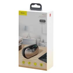 Baseus Speaker Bluetooth Encok E09 Stylish Portable Wireless alarm clock, LED lamp - Black