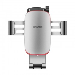 Baseus Car Mount Metal Age Gravity Phone holder (Connecting Rod Type)  - Silver