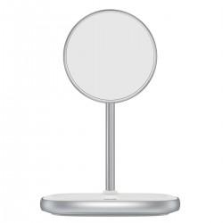 Baseus Wireless Charger Swan, iPhone 12 Magnetic Desktop Bracket, 15W - White