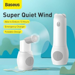 Baseus Fan Portable Tricolor bear Foldable - White