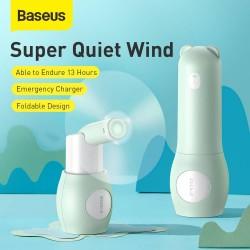 Baseus Fan Portable Tricolor bear Foldable - Green