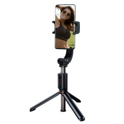 Baseus Tool Lovely Uniaxial Bluetooth Folding Stand Selfie Stabilizer phone holder - Black