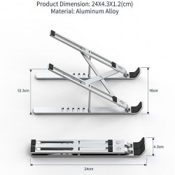 WiWU MacBook and Laptop Stand S400, Silver