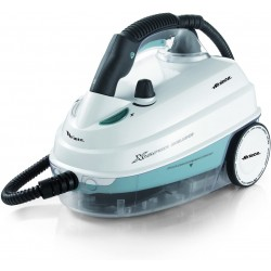 Ariete 4146 X-Vapor Deluxe Steam Cleaner for Floors, Carpets, Car Upholstery, Garments & Windows, 8 Minutes Heat Up Time