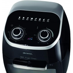 Ariete 4619, Electric Oven Air Fryer, Frying without oil and fats, 2000 Watt, 11 Liters, Max temperature 200 °, 3 Grids, Rotating Basket and Rotisserie, Internal Light - Black