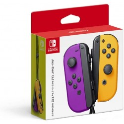 Nintendo Joy-Con (L) / (R) - Neon Purple / Neon Orange for Nintendo Switch