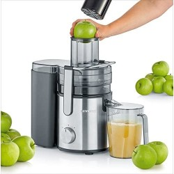 Severin Multi-Purpose Electric Juicer with 800 W of Power ES 3570, Brushed Stainless Steel-Black