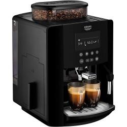 Krups EA817040 Fully Automatic Coffee Machine (1450 Watt, 1.8 Litres, 15 Bar, LC Display, CappuccinoPlus Nozzle) Black