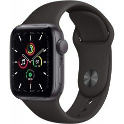 Apple Watch SE (44mm) - Space Grey Aluminium Case with Black Sport Band