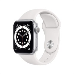 Apple Watch Series 6 (40mm) - Silver Aluminium Case with White Sport Band