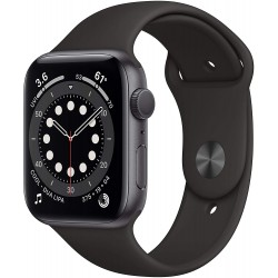 Apple Watch Series 6 (44mm) - Space Gray Aluminium Case with Black Sport Band