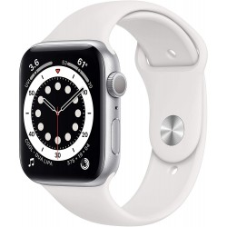 Apple Watch Series 6 (44mm) - Silver Aluminium Case with White Sport Band
