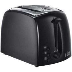 Russell Hobbs 21641 Textures 2-Slice Toaster, 1000 W, Black [Energy Class A]