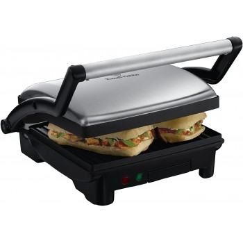 Russell Hobbs 3-in-1 Panini Press, Grill and Griddle 17888, Stainless Steel