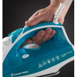 Russell Hobbs Supreme Steam Traditional Iron 23061, 2400 W, White/Blue