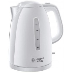 Russell Hobbs 21270 Textures Plastic Kettle, 1.7 Litre, 3000 W, White [Energy Class A]