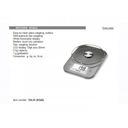 Beurer Silver Kitchen Scales 5 Kg
