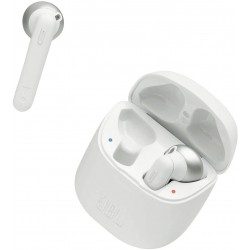 JBL Tune 220 TWS, True Wireless Bluetooth Earbuds with Mic, 19 Hours Total Battery Life, Hands Free Calling, Speed Charging with Charging Case, White