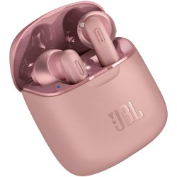 JBL Tune 220 TWS, True Wireless Bluetooth Earbuds with Mic, 19 Hours Total Battery Life, Hands Free Calling, Speed Charging with Charging Case, Pink