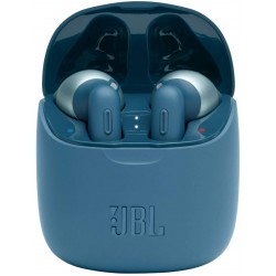 JBL Tune 225 TWS, True Wireless Bluetooth Earbuds with Mic, 19 Hours Total Battery Life, Hands Free Calling, Speed Charging with Charging Case, Blue