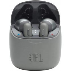 JBL Tune 225 TWS, True Wireless Bluetooth Earbuds with Mic, 19 Hours Total Battery Life, Hands Free Calling, Speed Charging with Charging Case, Grey