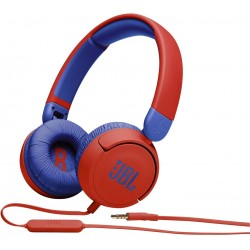 JBL Jr 310 - Children's over-ear headphones with aux cable and built-in microphone - Blue/Red