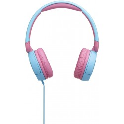 JBL Jr 310 - Children's over-ear headphones with aux cable and built-in microphone - Blue/Pink