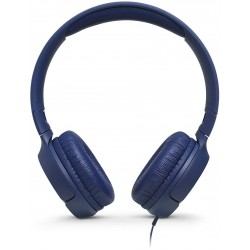 JBL T500 in Blue - On Ear Lightweight, Foldable Headphones with Pure Bass Sound - 1-Button Remote/Built-In Microphone