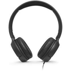 JBL T500 in Black - On Ear Lightweight, Foldable Headphones with Pure Bass Sound - 1-Button Remote/Built-In Microphone
