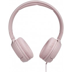 JBL T500 in Pink - On Ear Lightweight, Foldable Headphones with Pure Bass Sound - 1-Button Remote/Built-In Microphone