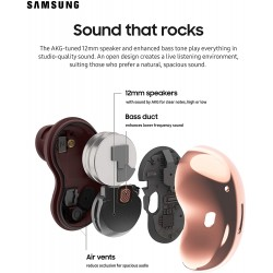Samsung Galaxy Buds Live, True Wireless Earbuds w/Active Noise Cancelling (Wireless Charging Case Included), Mystic Black
