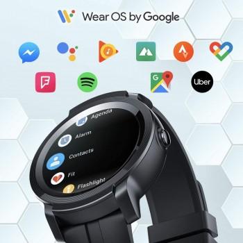 TicWatch E2 Smartwatch, GPS Waterproof 24 Hours Heart Rate Monitor, Running on Wear OS by Google - Shadow
