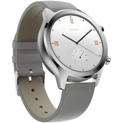 TicWatch C2 Smart Watch Classic Fashion Fitness smartwatch with All Day Heart Rate, GPS, NFC, Notifications and Alert, Compatible with Android and iOS - Platinum
