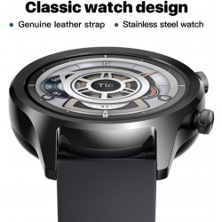 TicWatch C2 Smart Watch Classic Fashion Fitness smartwatch with All Day Heart Rate, GPS, NFC, Notifications and Alert, Compatible with Android and iOS - Onyx